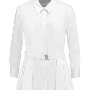 Theory white belted shirt dress size 0